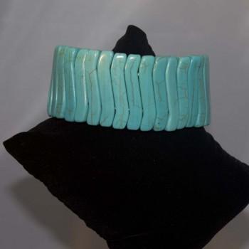 Armband Howlith, Stretcharmband, türkis