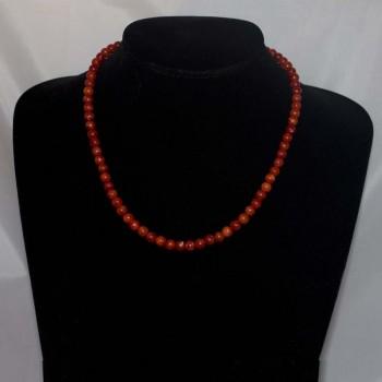 Halskette Korallen, Korallenkette, 925 Silber
