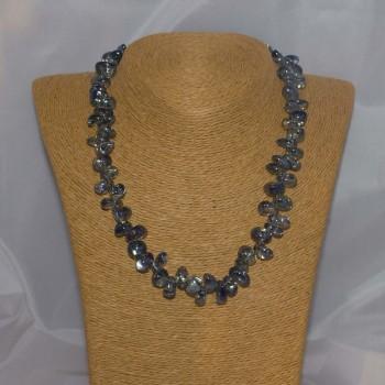 Halskette Mystic Quarz, blau, 925 Silber