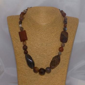 Halskette Achat, Drachenadern, 49,5 cm