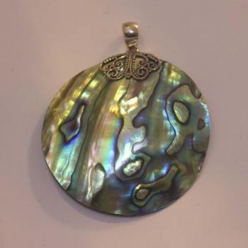 Anhänger Abalone, gewölbt, 925 Silber