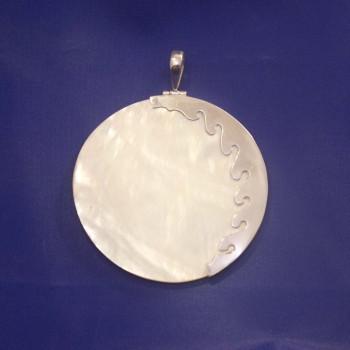 Anhänger Perlmutt, Perlmuttanhänger, 925 Silber