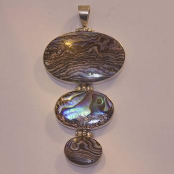 Anhänger Abalone, 3teilig, 925 Silber