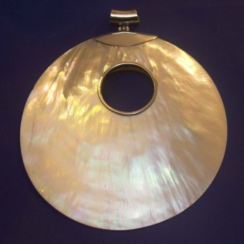 Anhänger Muschel sehr groß,925 Silber