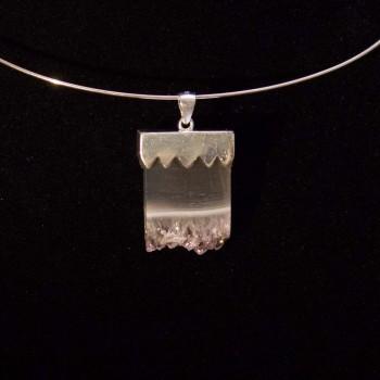 Kettenanhänger, Anhänger Amethyst Druse, 925 Silber