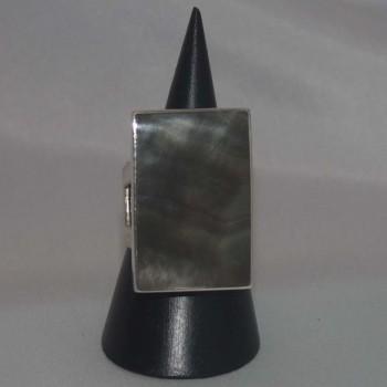 Ring Perlmutt, Perlmuttring, 925 Silber