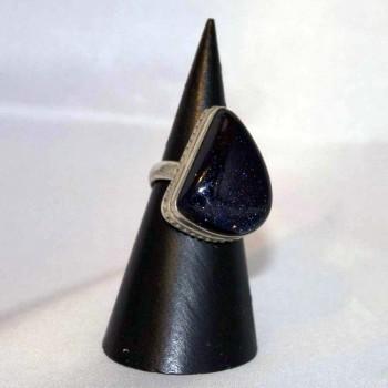 Ring Blaufluss, 925 Silber, Größe 54,5