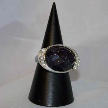 Ring Blaufluss, 925 Silber, Größe 56,8