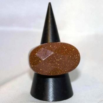 Ring Goldfluss, Goldflussring, Steinring, Größe 62