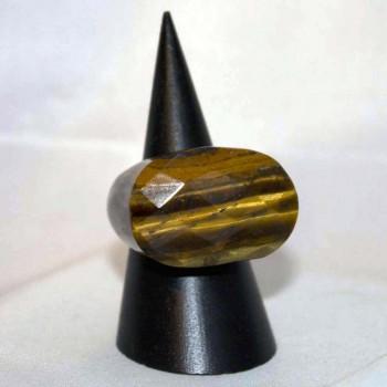 Ring Tigerauge, Steinring, Größe 57,5