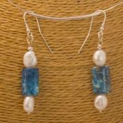 Ohrhänger Süßwasserperle, Sediment-Jaspis, 925 Silber