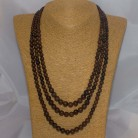 Halskette Mahagoniobsidian, dreireihig, 46 - 56 cm