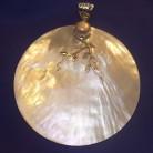 Anhänger Perlmutt, Perlmuttscheibe, 925 Silber