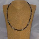 Halskette, Collier Charizzma, Edelstahl und 925 Silber, 50 cm