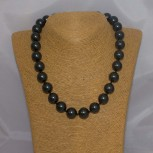Halskette Muschelkern, Muschelkern-Perlenkette, 47 cm