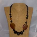 Halskette Onyx, Achat, orange, 53 cm