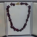 Halskette, extravagante Barockperlen, 925 Silber, vergoldet, 46 cm