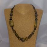 Halskette Tigerauge, diverse Formen, Steingrößen, 50 cm