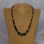Halskette Glasperlen, multicolour