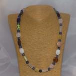Halskette, Stretchkette, Jaspis, Achat, Quarz, 52 cm
