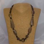 Halskette Bronzit, Tigerauge, Jaspis, 51 cm