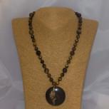 Halskette Tigerauge, Katzenauge, 48 cm