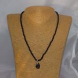 Halskette Blaufluss, 925 Silber, 45 cm