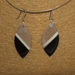 Ohrhänger Holz 925 Silber
