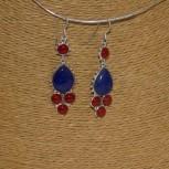 Ohrhänger Lapislazuli, Korallen, 925 Silber