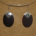Ohrhänger Perlmutt, dunkelbraun, 925 Silber