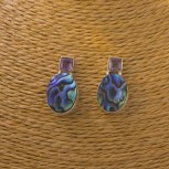 Ohrstecker Amethyst, Abalone, 925 Silber