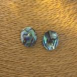 Ohrstecker Abalone, oval, Modeschmuck