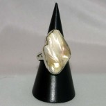 Ring Perle, barock, 925 Silber