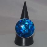 Ring Paua Muschel, blau, 925 Silber