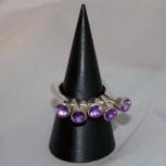 Ring, Amethyst, 925 Silber, extravagantes Designerstück