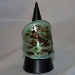 Ring Glas, Glasring, grün, golden,braun, Größe 56,5