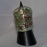 Ring Glas, Glasring, grün, golden,braun, Größe 53